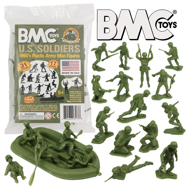 BMC Marx Plastic Army Men US Soldiers - OD Green 31pc