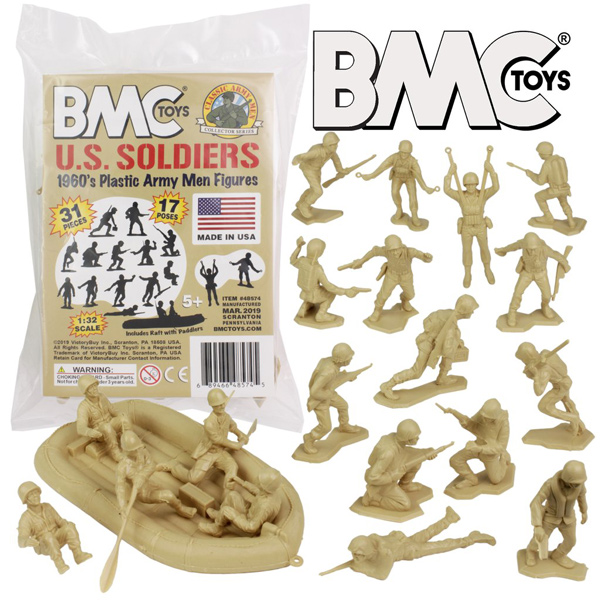BMC Marx Plastic Army Men US Soldiers - Tan 31pc