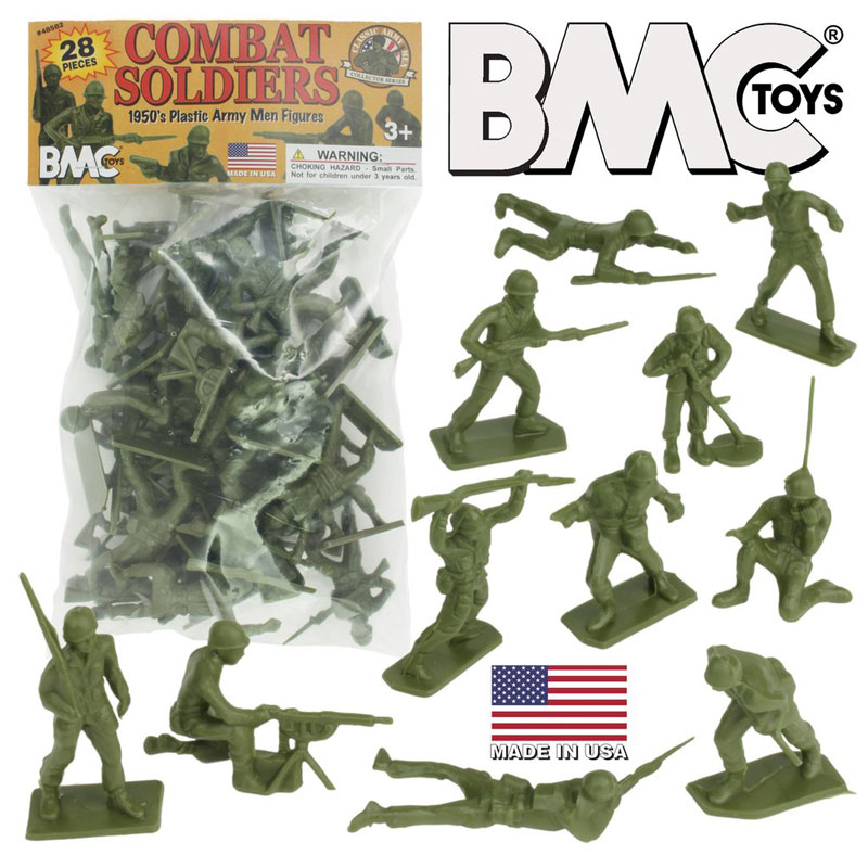 Classic Green Plastic Army Men (28)
