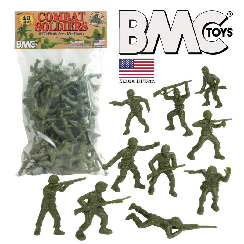 Classic Green Plastic Army Men - Lido