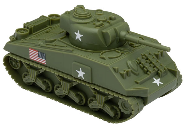 WWII Sherman M4 Tank -New OD Green Color