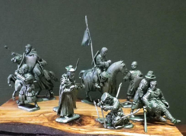 Templar Command Group - Ad Proelium Miniatures - ONLY 1 AVAILABLE AT THIS PRICE