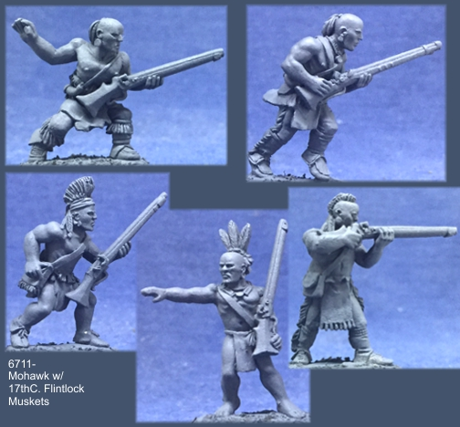 Mohawk Warriors w/17th C. Flintlock Muskets