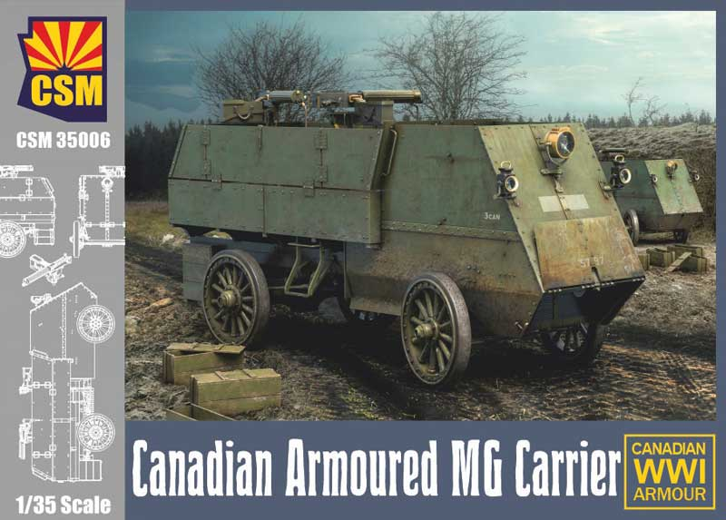 WWI CANADIAN ARMOURED GUN CARRIAGE