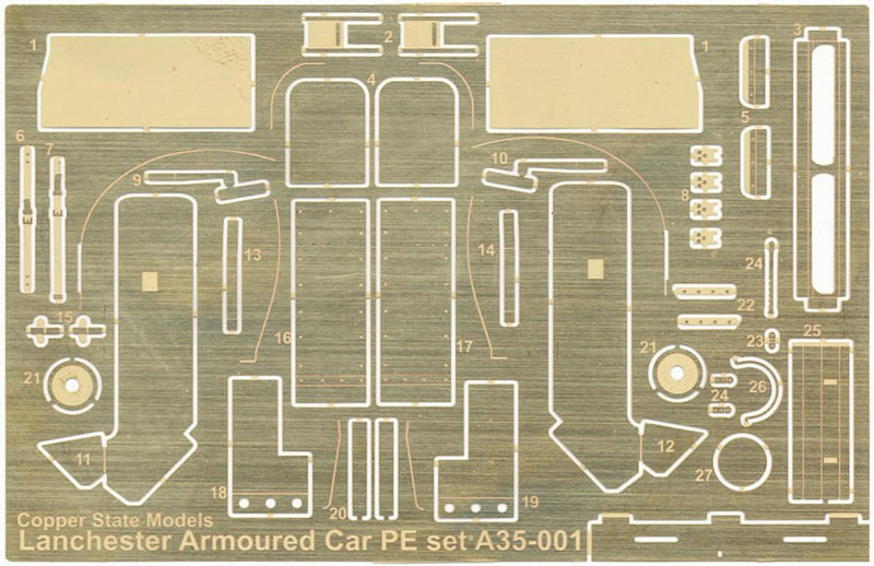 Lanchester Armoured Car Photo Etch Detail Set