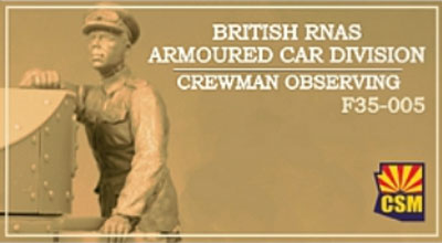 British RNAS Armoured Car Division Crewman Observing
