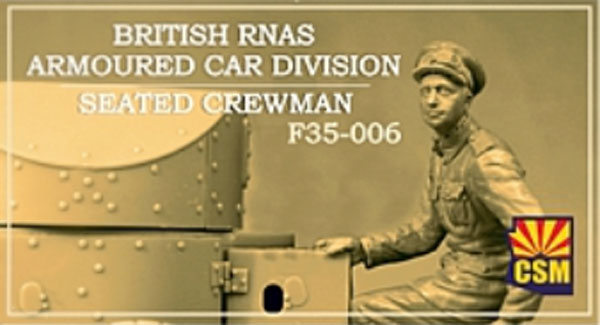 British RNAS Armoured Car Division seated crewman