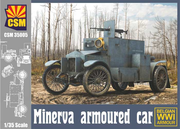 WWI Minerva Belgian Armoured Car