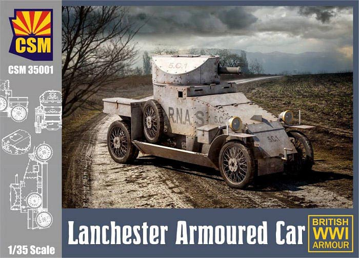 WWI British Lanchester Armoured Car