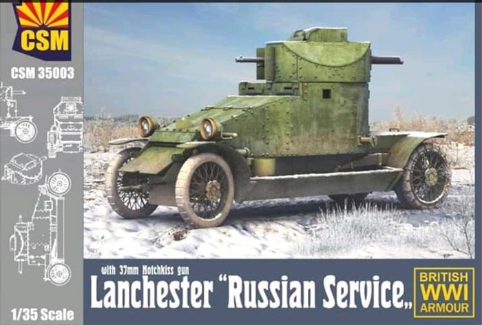 WWI Lanchester with Hotchkiss 37mm gun in Russian Service
