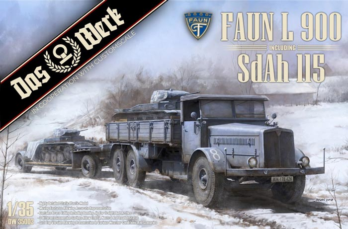 Faun L 900 with Sd.Ah. 115