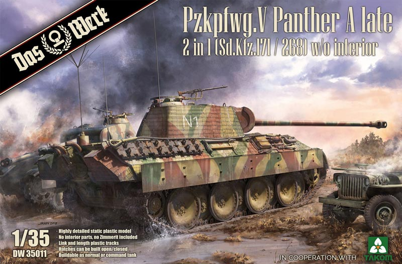 Pz.Kpfw. Panther A Late (2in1) Sd.Kfz. 171/268 (Without Interior)