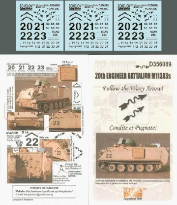 US 20th Engineer Battalion M113A3s OIF