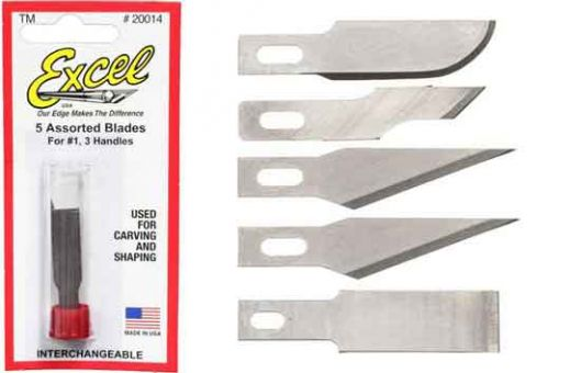 Assorted Light Duty Blades (5)