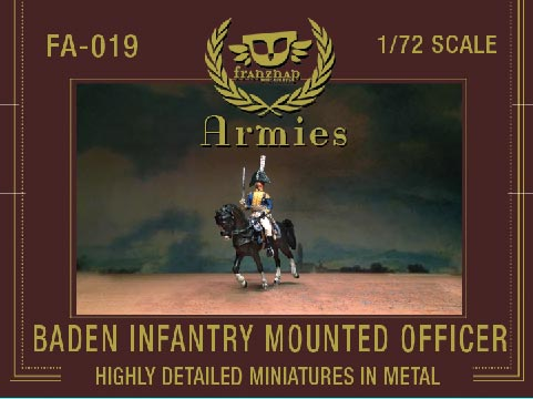 Baden Infantry Mounted Officer