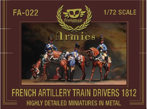 French Artillery Train Drivers 1812