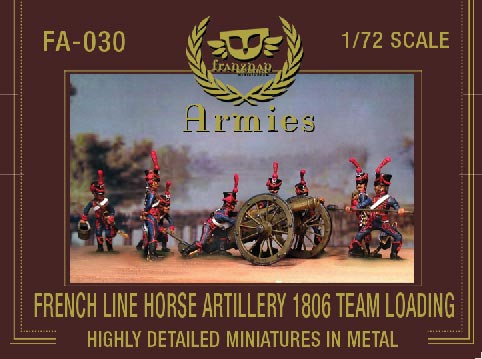 French Line Horse Artillery 1806 Team Loading