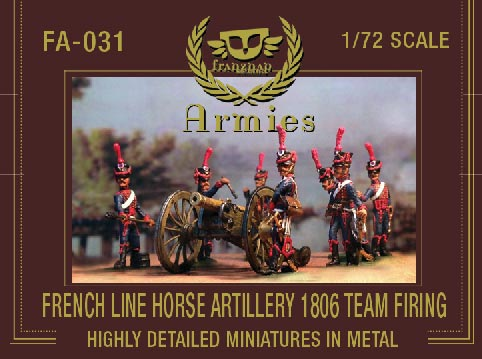 French Line Horse Artillery 1806 Team Firing