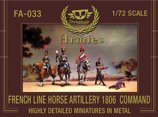 French Line Horse Artillery 1806 Command