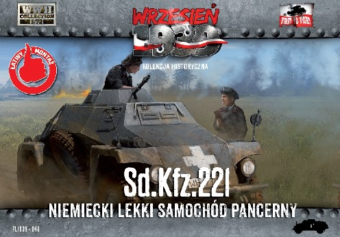 WWII SdKfz 221 German Light Armored Tank