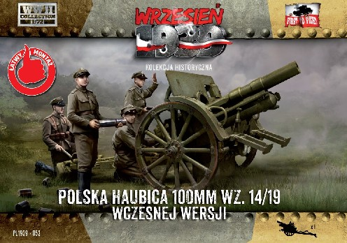 WWII 100mm Polish wz14/19 Early Version Howitzer