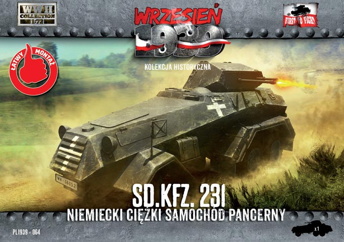 WWII German Sd.Kfz.231 Heavy Armored Car - ONLY 1 AVAILABLE AT THIS PRICE
