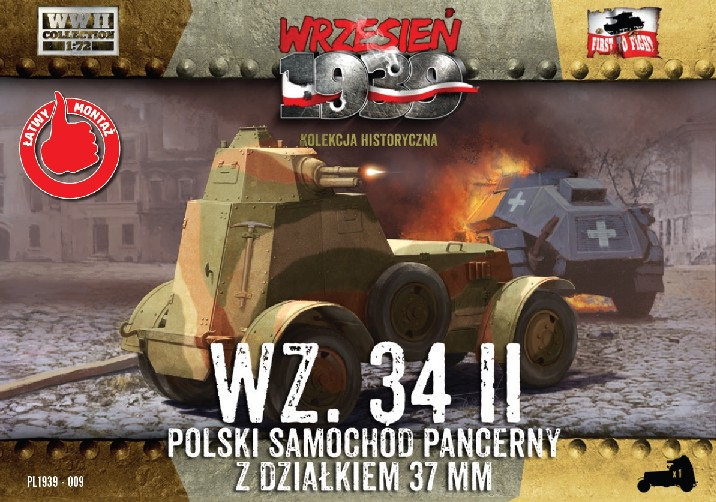 WWII WZ34/II Polish Armored Car