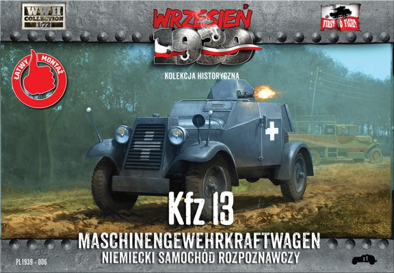 WWII German Kfz13 German Recon Armored Car w/Machine Gun