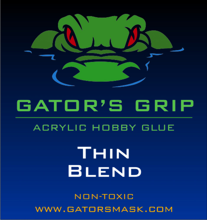 Gators Grip Acrylic Hobby Glue Thin Blend - NEW DELUXE PACKAGING