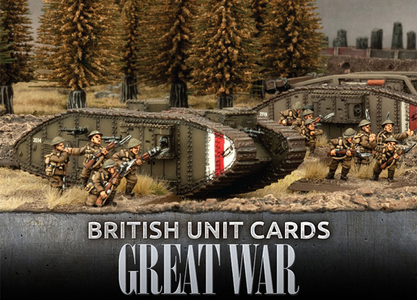 Great War - British Unit Cards - ONLY 1 AVAILABLE AT THIS PRICE