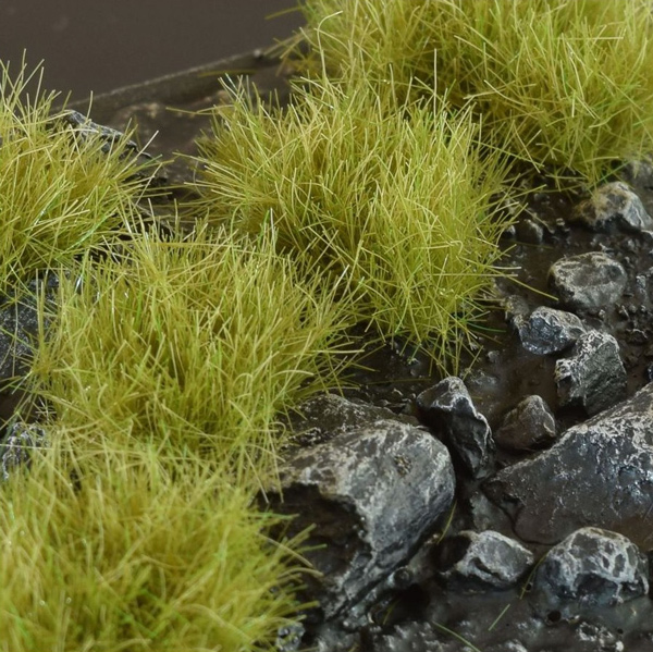 12mm XL Grass Tufts - Dry Green