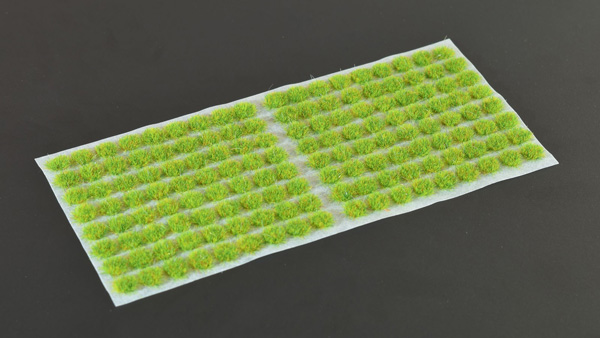 2mm Grass Tufts - Bright Green Small