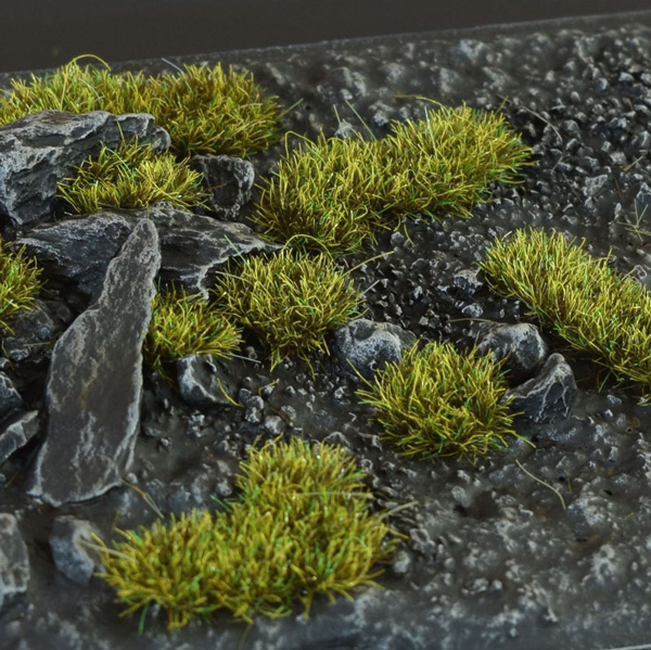 2mm Grass Tufts - Dark Moss
