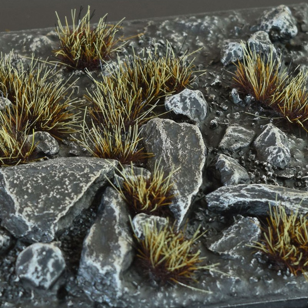 6mm Grass Tufts - Burned