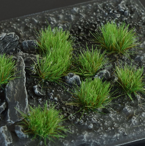 6mm Grass Tufts - Strong Green