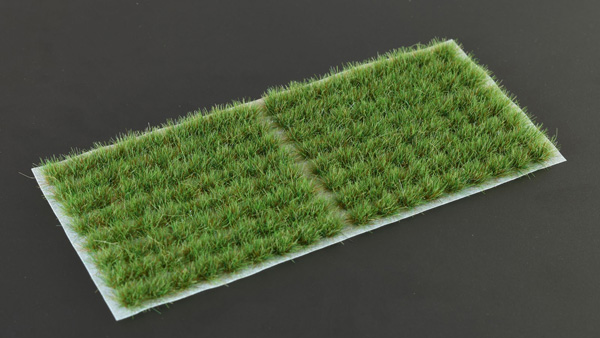 6mm Grass Tufts - Strong Green Small
