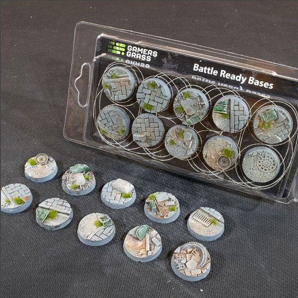 Battle Ready Bases - Urban Warfare Round Bases 25mm