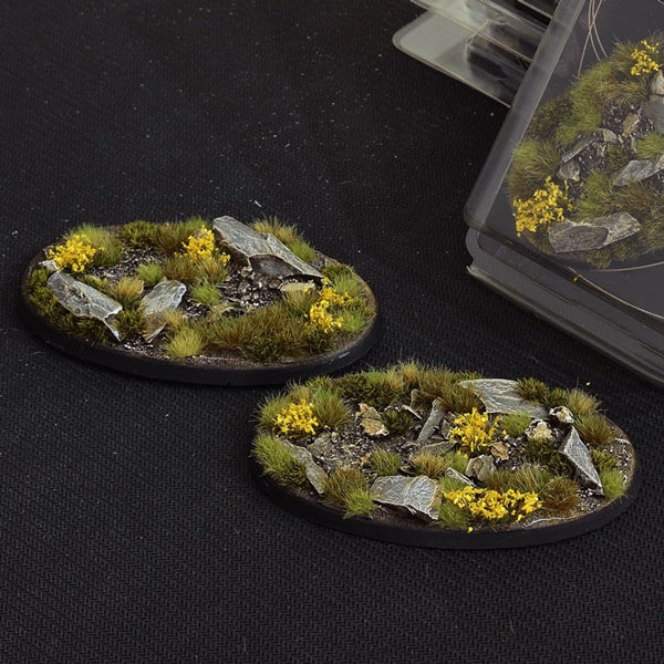 Battle Ready Bases - Highland Oval Bases 90mm (x2)