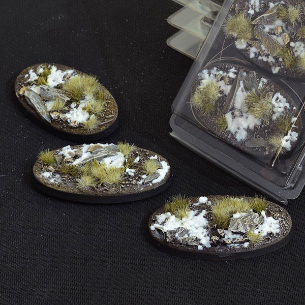 Battle Ready Bases - Winter Oval Bases 75mm (x3)