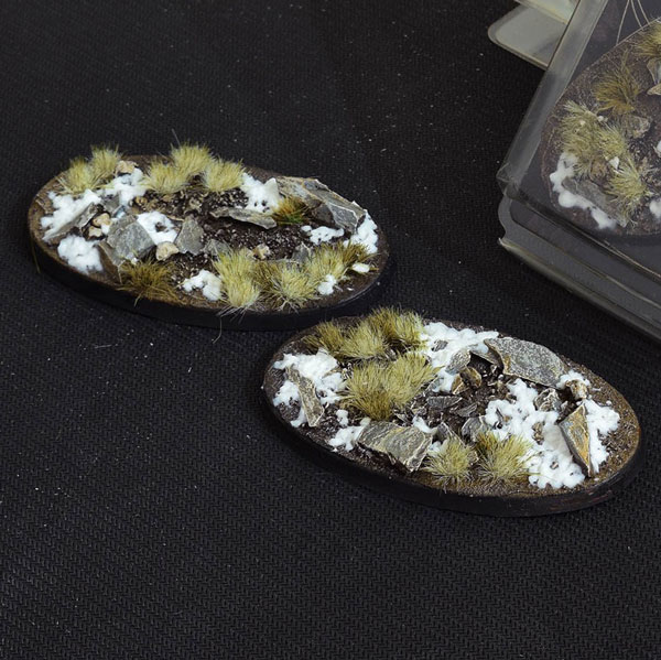 Battle Ready Bases - Winter Oval Bases 90mm (x2)