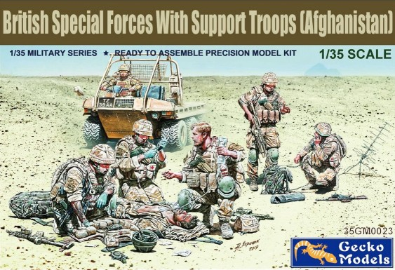 British Special Forces w/Support Troops Afghanistan (6)