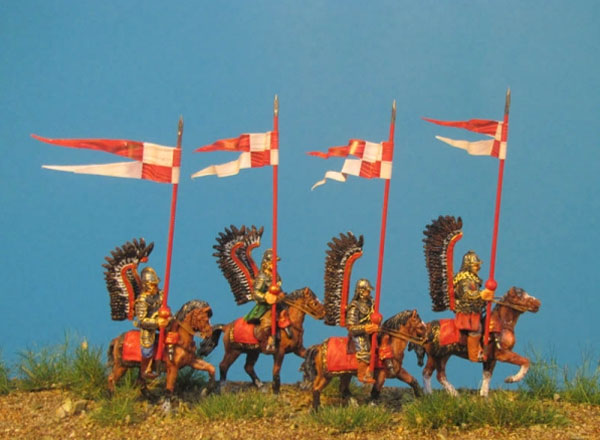 Winged Hussar - Trotting Horses, Lance Upright