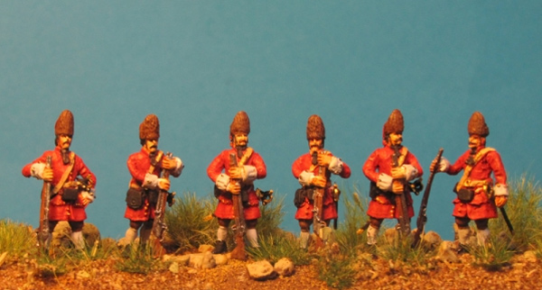 Grenadiers of the Imperial Army at the Ready