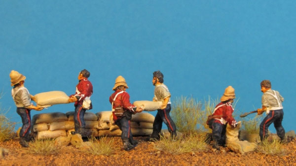 Zulu Wars - English Soldiers Building Barricade