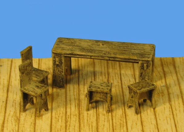 Supply Set - Table, Bench, Stool set 2