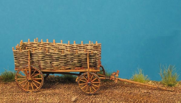 Peasant Wagon with Braided Side Walls