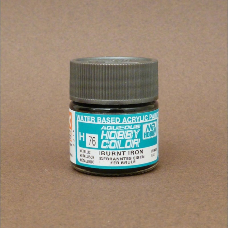 Metallic (Flat) Burnt Iron - Aqueous/Acrylic Paint 10ml