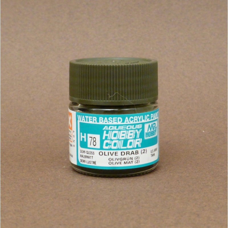 Semi Gloss Olive Drab (2) - Aqueous/Acrylic Paint 10ml