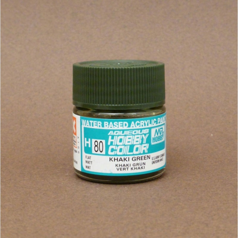 Flat Khaki Green - Aqueous/Acrylic Paint 10ml