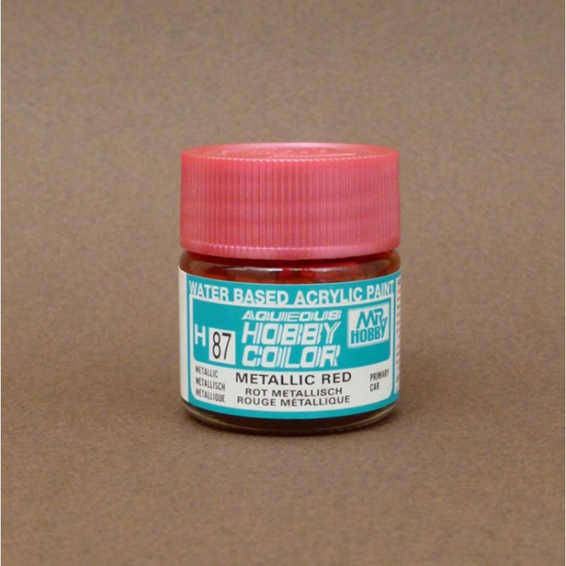 Metallic (Gloss) Metallic Red - Aqueous/Acrylic Paint 10ml